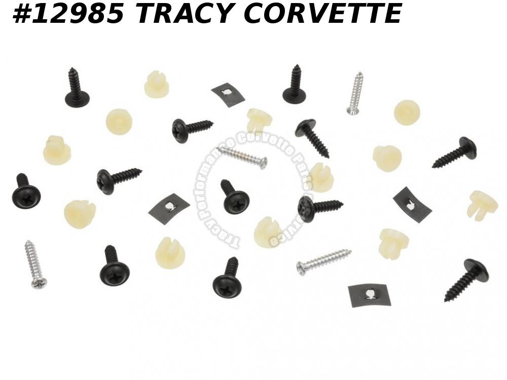 1963-1967 Corvette Rocker Moulding Screw - With Nut Replacement Screws