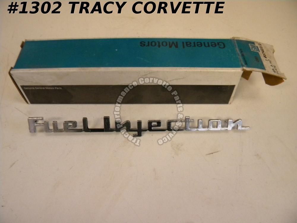 1957 Corvette & Chevy NOS GM 3742212 Fuel Injection Emblem 1 Real FI Side Fender
