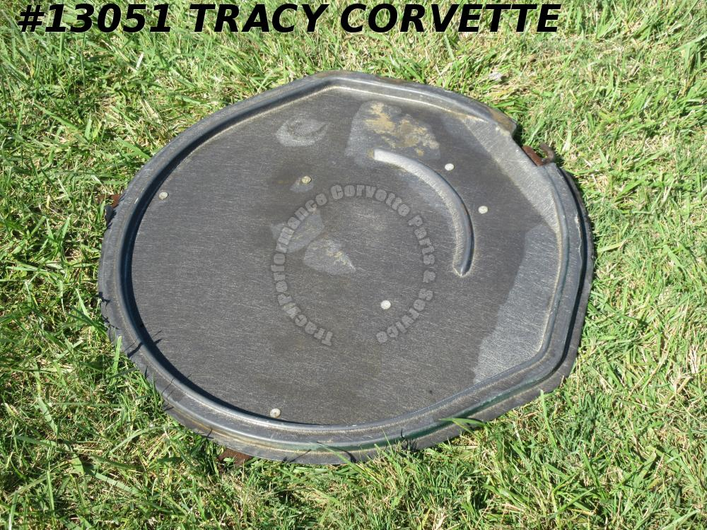 1963-1967 Corvette Spare Tire Carrier Tray Lid fiberglass No Repairs w/ V brace