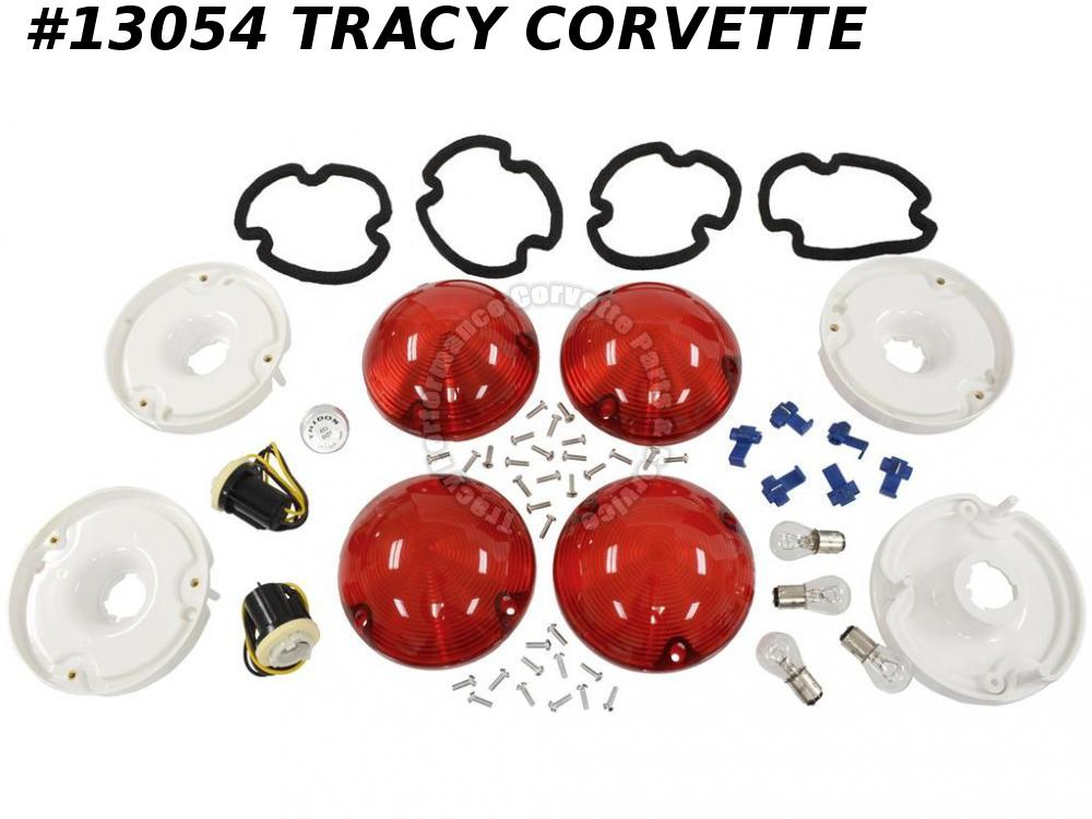 1975-1982 Corvette Bubble Tail Lamp Conversion Kit 1976 1977 1978 1979 1980 1981