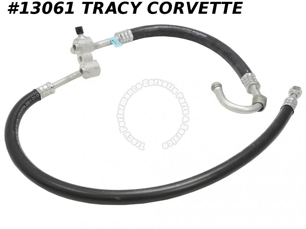 1976-77 Corvette Air Conditioning Hose, 76L-77Early Main Compressor, 76-77 w/ R4