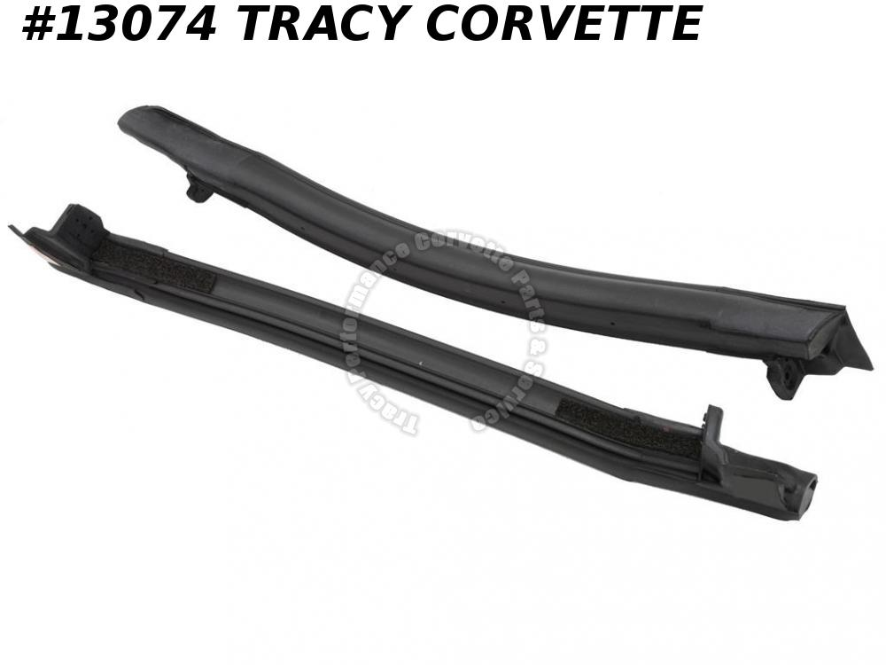 1997-2004 Corvette Roof Panel Side Weatherstrip 10313371 10313370 Pair *InStock*