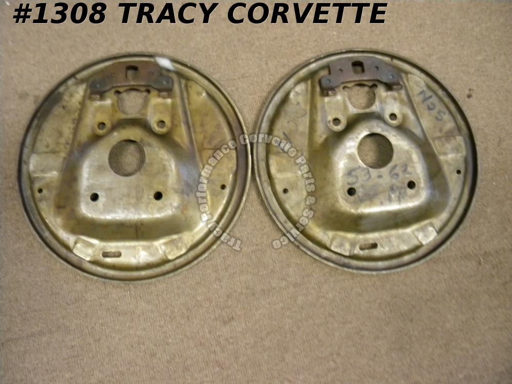 1953-1962 Corvette Backing Plate (Pair) GM# 3694865 Brake Flange Front NOS Chevy
