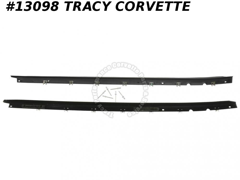 1984-1996 C4 Corvette Door Outer Glass Window Seal Belt Molding W/ Black Reveal