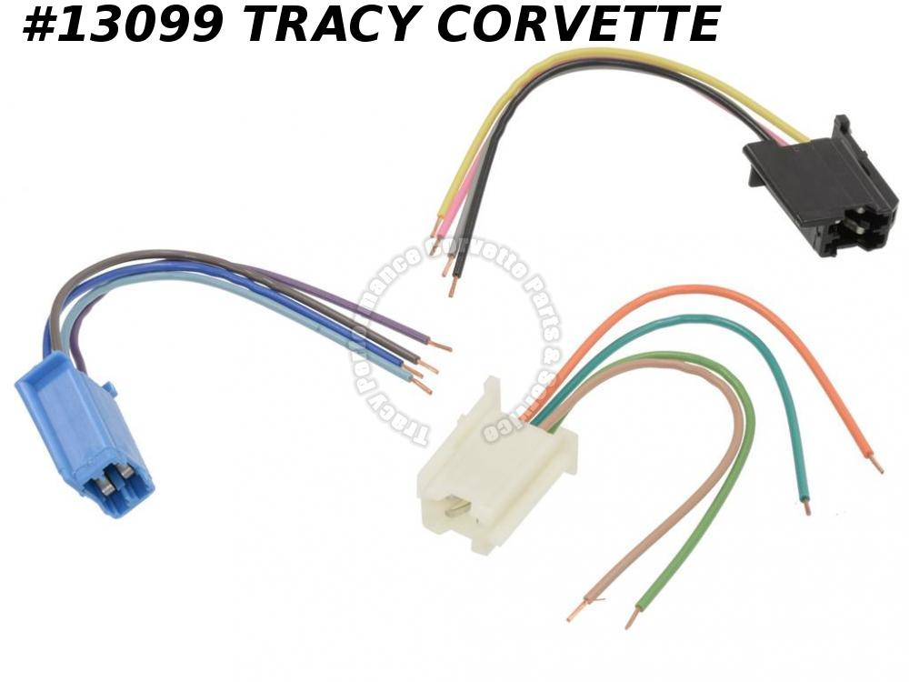1978-1989 C3 C4 Corvette Radio Harness Pig Tail Kit - 3 Plugs With Wire