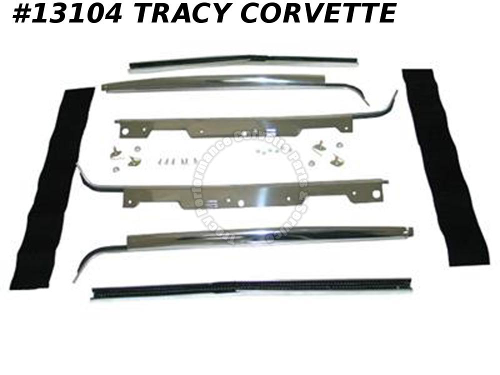 1959-1962 Corvette Window Seal Felt Garnish Molding Set Deluxe Door Reveal C1