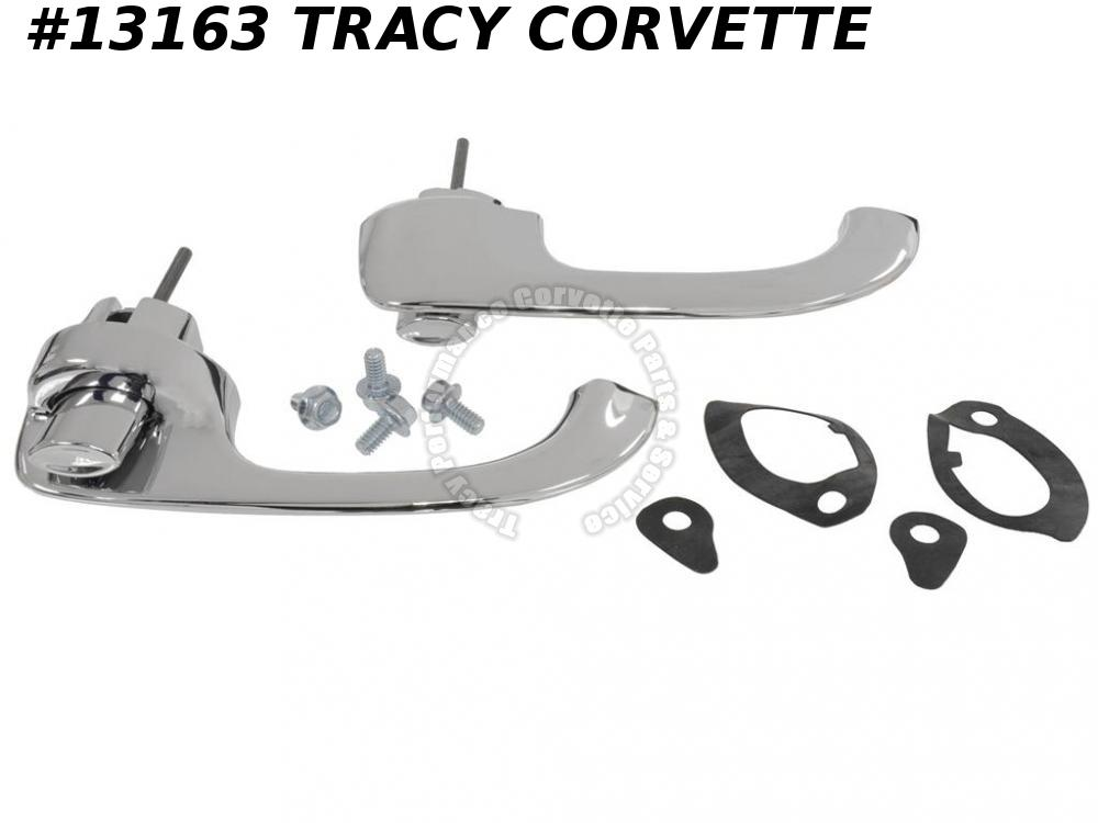 1964-1967 Corvette Door Handle Assembly GM# 5719142 Pair (Complete Kit)