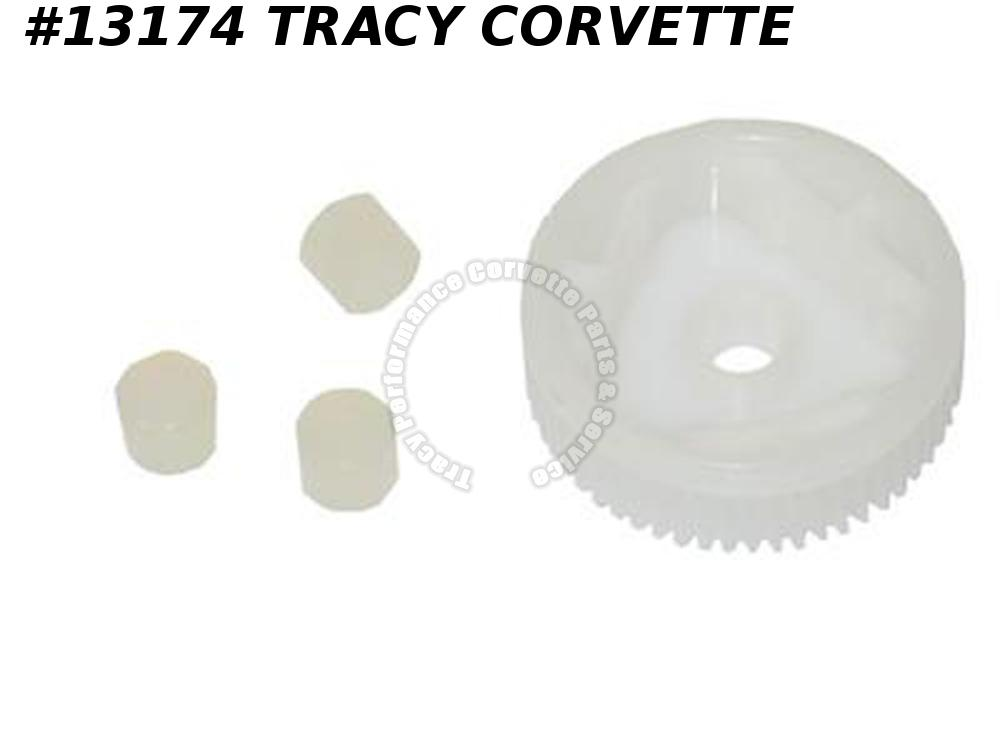 1988-1996 Corvette Headlight Motor Plastic Gear With Bushings C4 1990 1992 1994