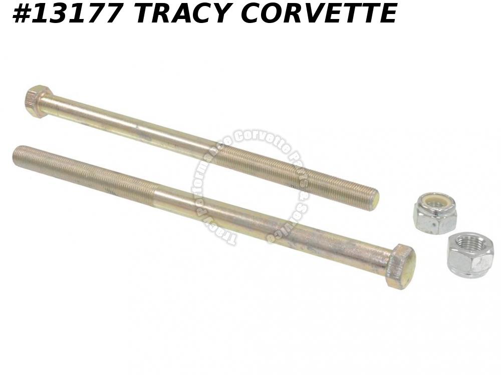 1984-1996 Corvette Rear Spring Bolt w/nut (pair) Adjustable Ride Height Lowering