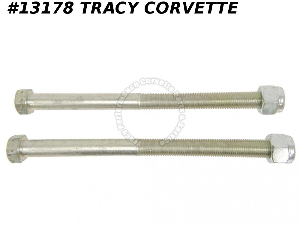 1963-1982 Corvette Rear Ride Height Adjust Spring Bolts (Pair) includes Nuts 8""