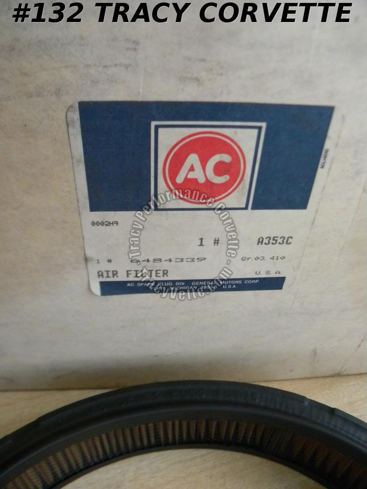 1963-1965 Corvette Air Filter A353C GM# 6484339     1964