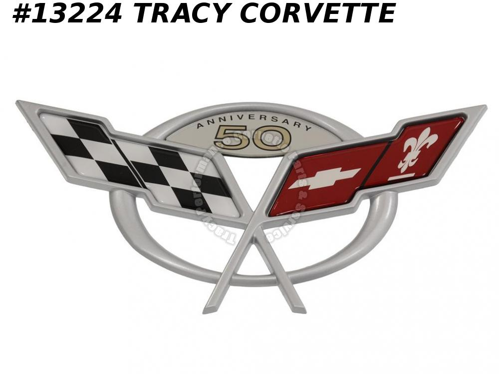2003 Corvette Front Nose Emblem - 50th Anniversary - In Stock