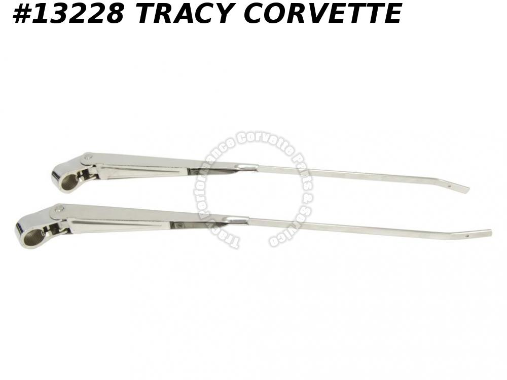 1963-1967 Corvette Windshield Wiper Arm - Brite Stainless Steel (Replacement)