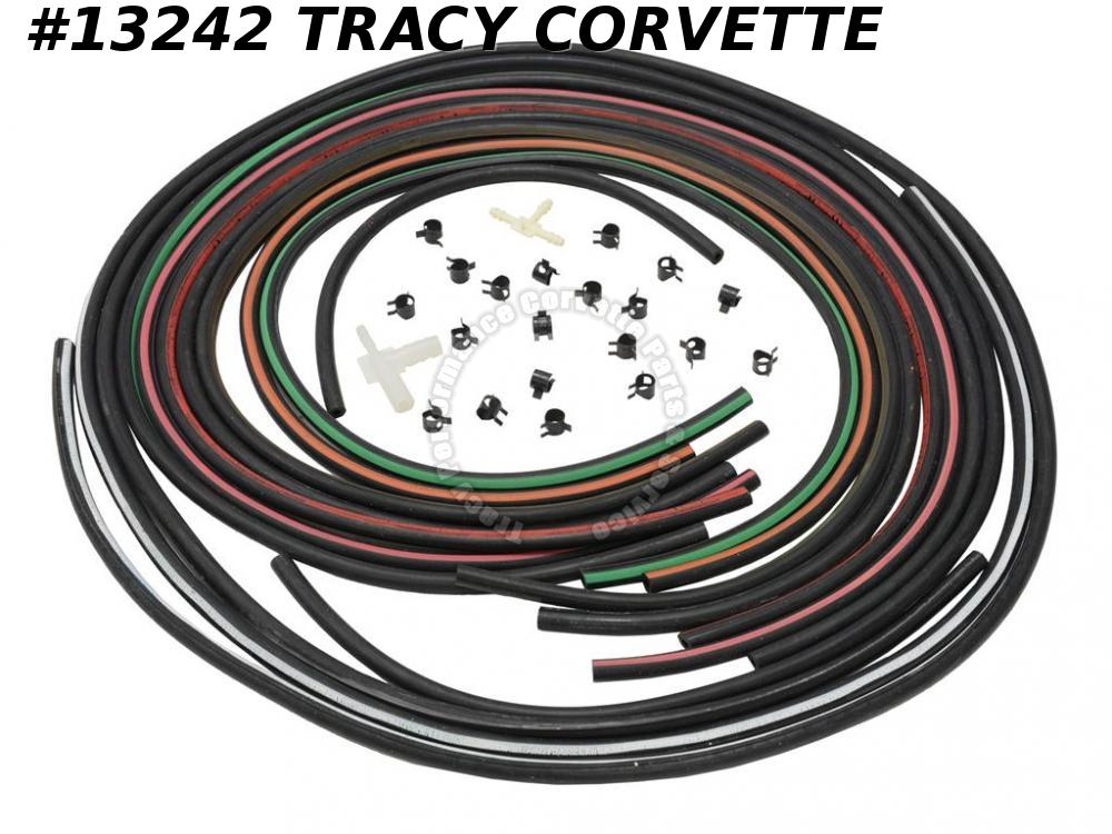 1969-1970 Corvette Heater Vacuum Hose Kit - With Air Conditioning