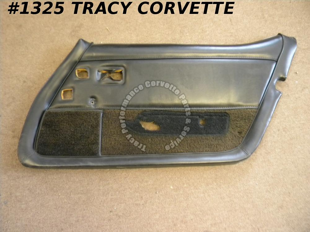 1979 Corvette Used Original RH Black Door Panel Assembly w/Remote Mirror Hole 79