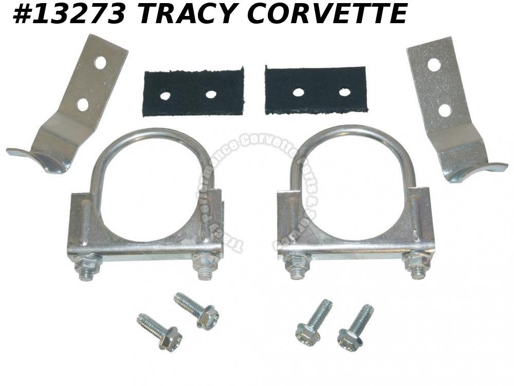 "1974-1979 Corvette Center Exhaust Hanger Kit 2 1/2"" Automatic With Dual Exhaust"