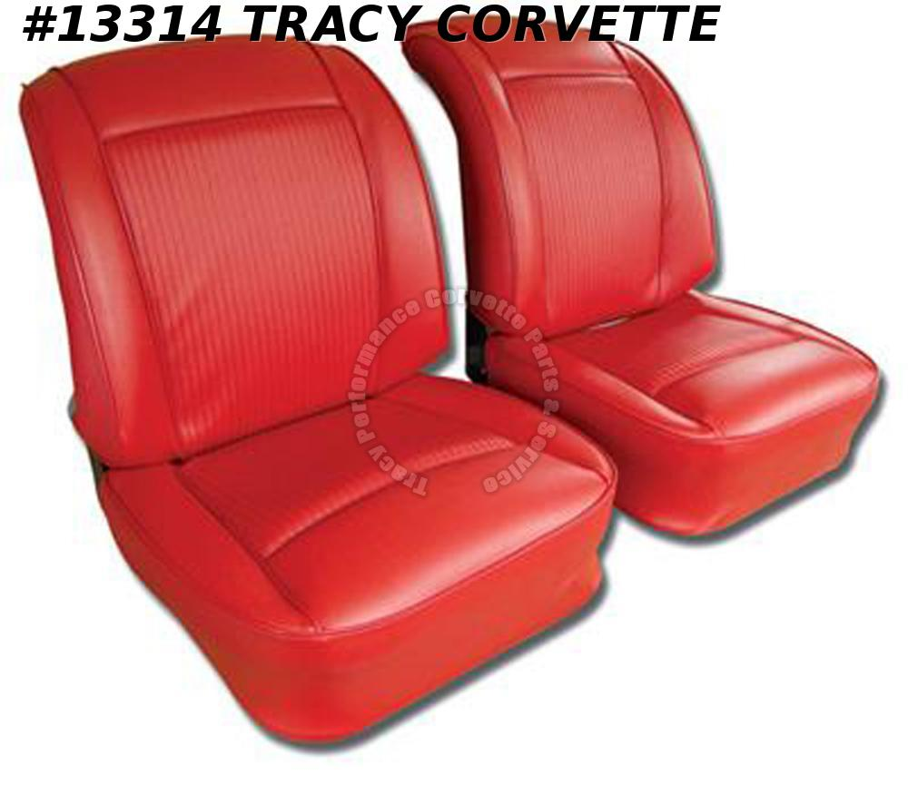 1961 Corvette Seat Covers 100% Black Leather **In Stock Ships same business day*