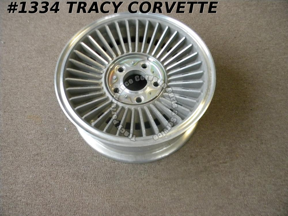 "1967 Corvette New Western Discontinued Repro 15""x6"" Bolt-On Aluminum Spare Wheel"