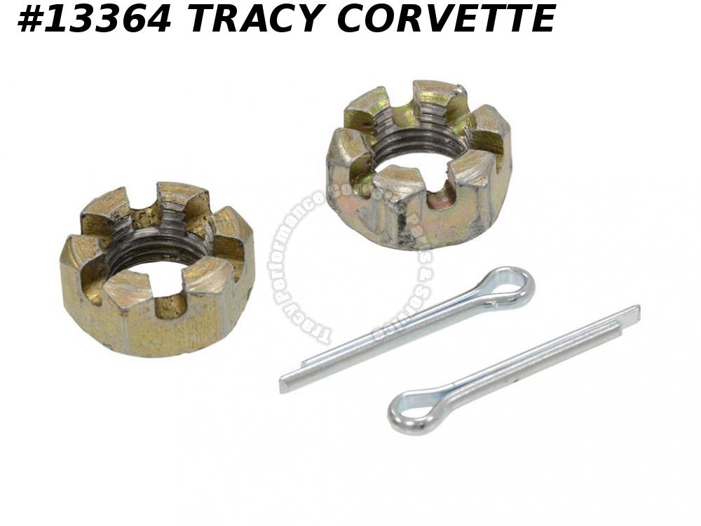 1963-1982 Corvette Rear Spring Mount/ Front Lower Ball Joint Slotted Castle Nut