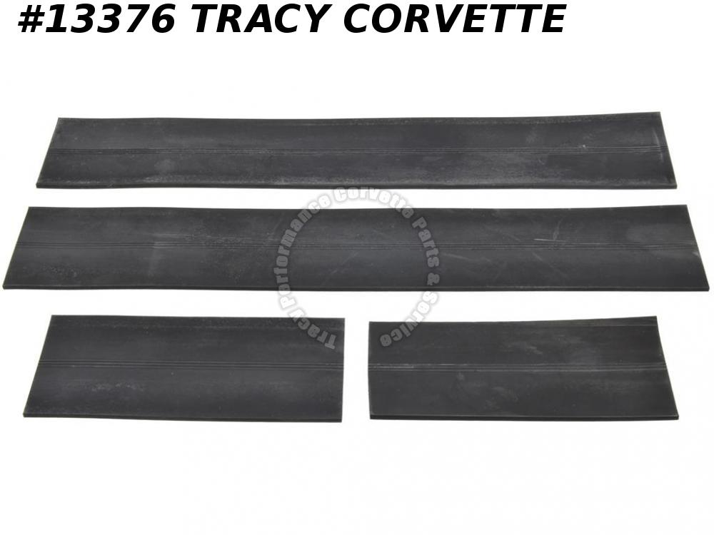 1963-1967 Corvette Inner Fender Skirt Lower Seal   4 Pieces   1964 1965 1966