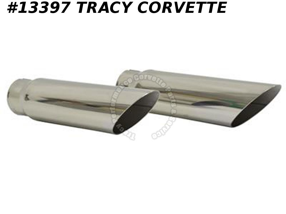 1968-1969 Corvette Exhaust Extensions/ Tips - Stainless Steel GM# 3952742