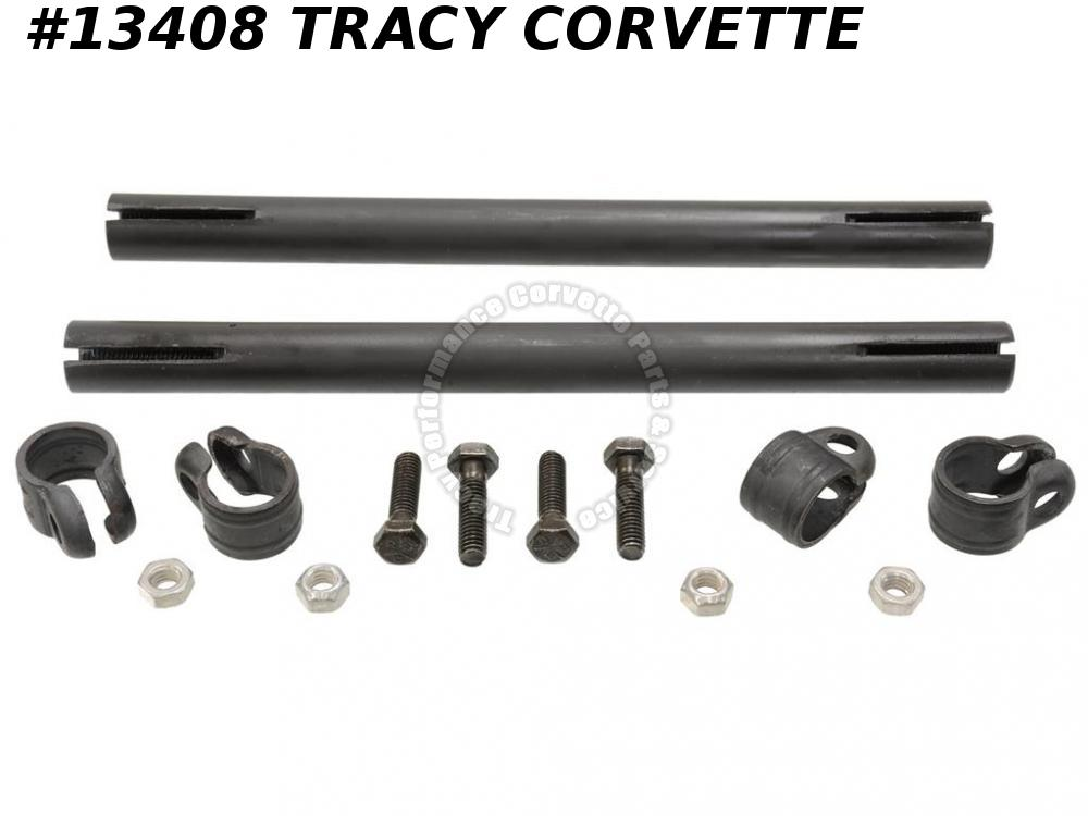 1963-1982 Corvette Tie Rod Tube Sleeve With Clamps Bolts 3826816 ***In Stock***