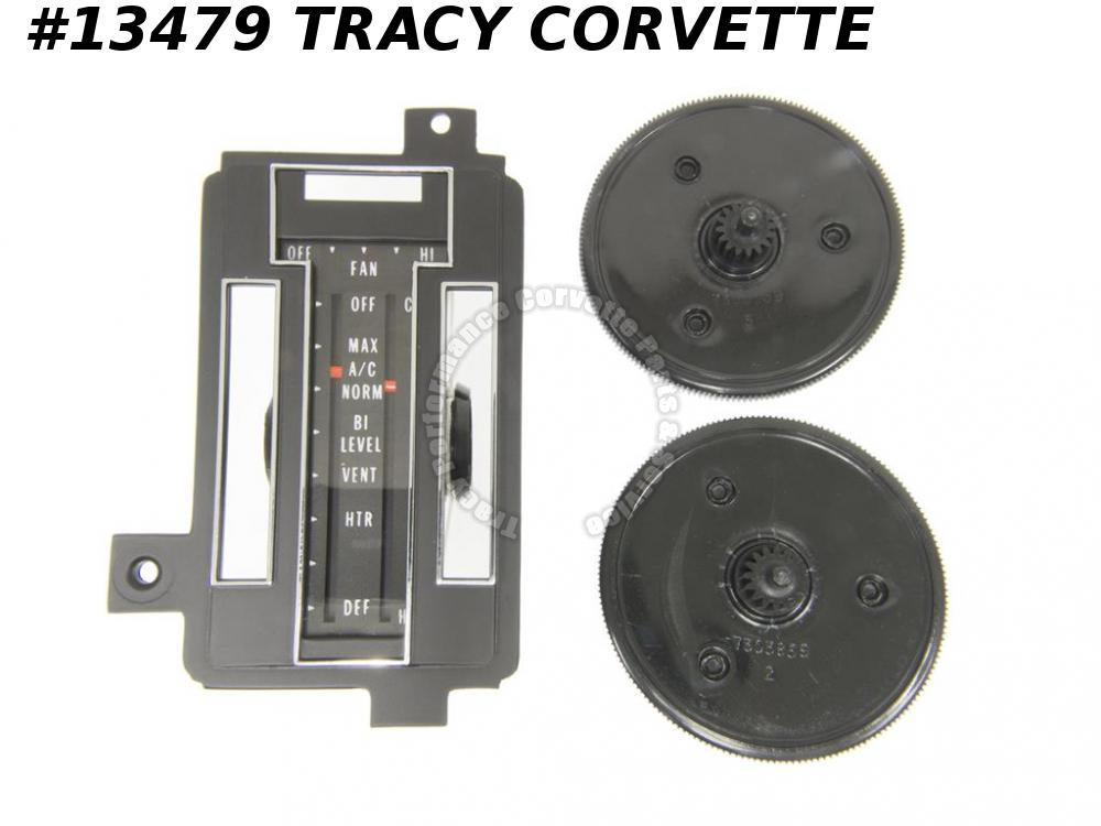 1972-1975 Corvette Heater Control Reface Kit - With Air Conditioning   1973 1974