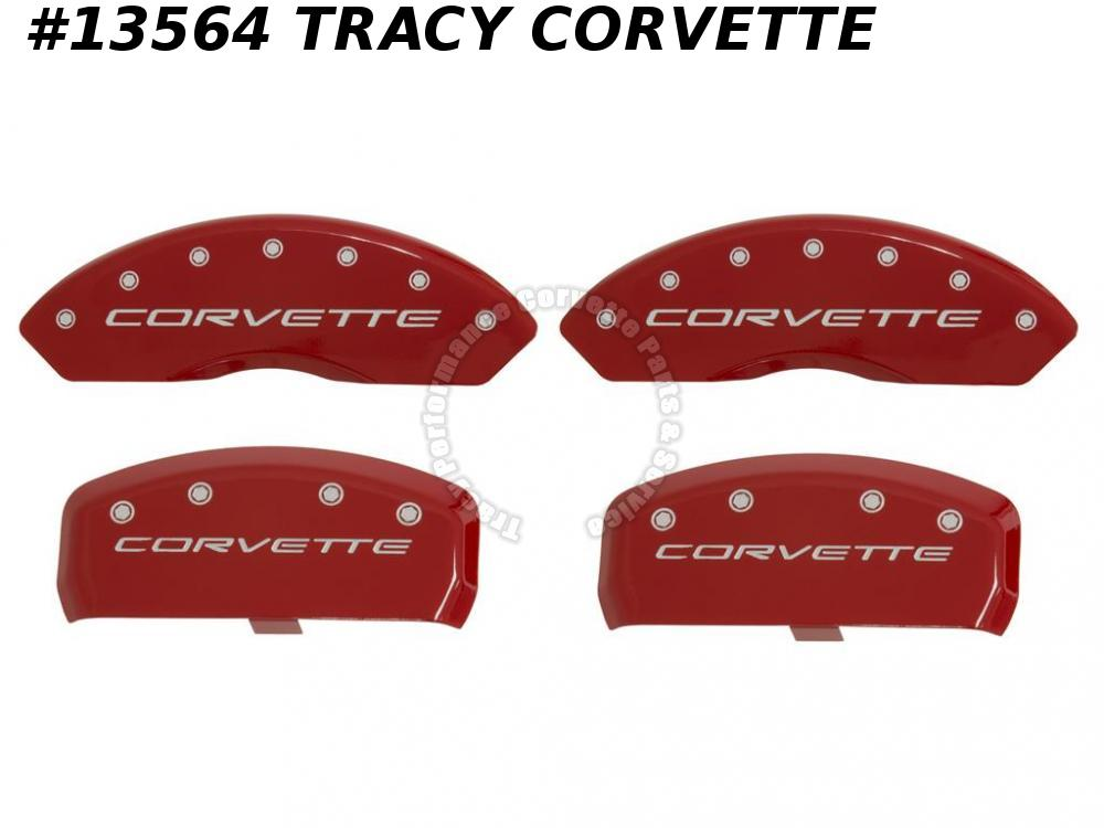 1997-2004 Corvette RED Brake Caliper Covers - MGP Aluminum Red Powder Coated