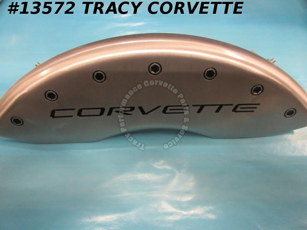 1997-2004 Corvette Brake Caliper Covers - Aluminum Satin Silver MPG