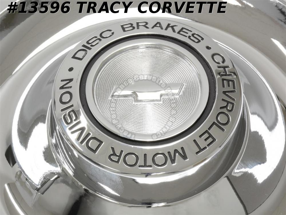 1967 Corvette Rally Wheel Caps with Ornament - Set Of 4