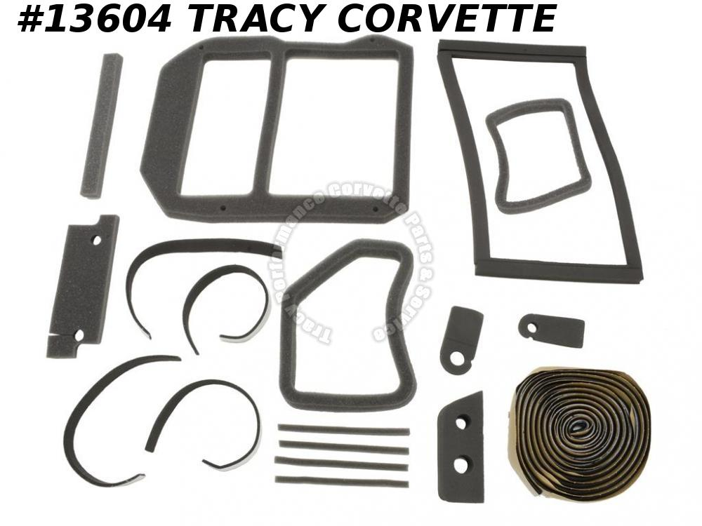1978-1982 Corvette Air Conditioning Heater Gasket Kit - 21 Pieces