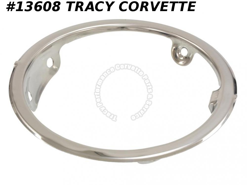 1963-1967 Corvette Gas Door Bezel - Convertible Correct Reproduction