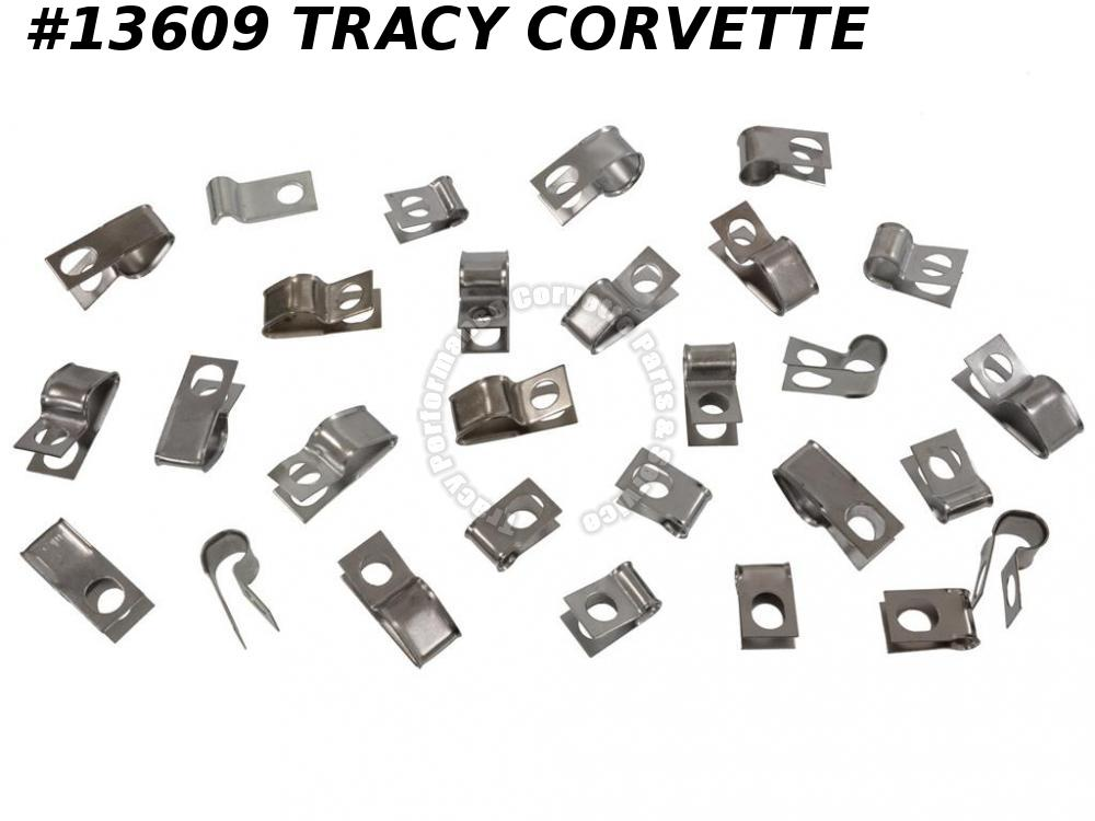 1970-1973 Corvette Brake And Fuel Line Clip Set/ For C3 with Fuel Return Line