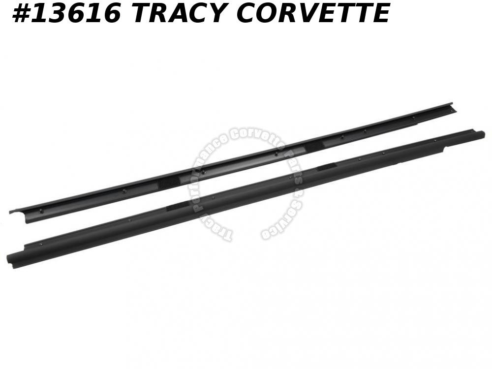1998-2004 Corvette Door Outer Window Seal / Belt Moulding - Convertible - Pair