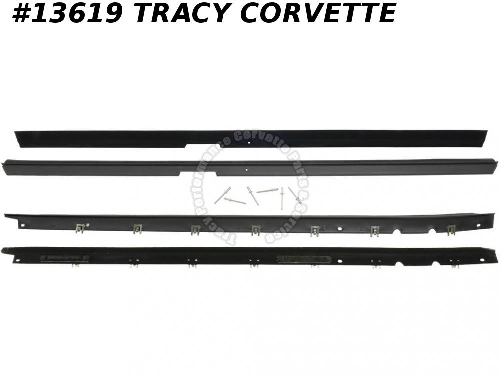 1984-1989 Corvette Door Inner & Outer Glass Window Seal Belt Moulding Set of 4