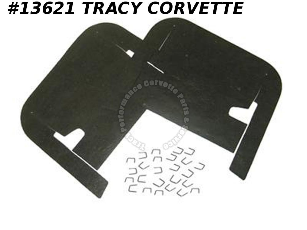 1963-1966 Corvette Front A-arm / Control Arm Flaps with Staples GM# 3797054