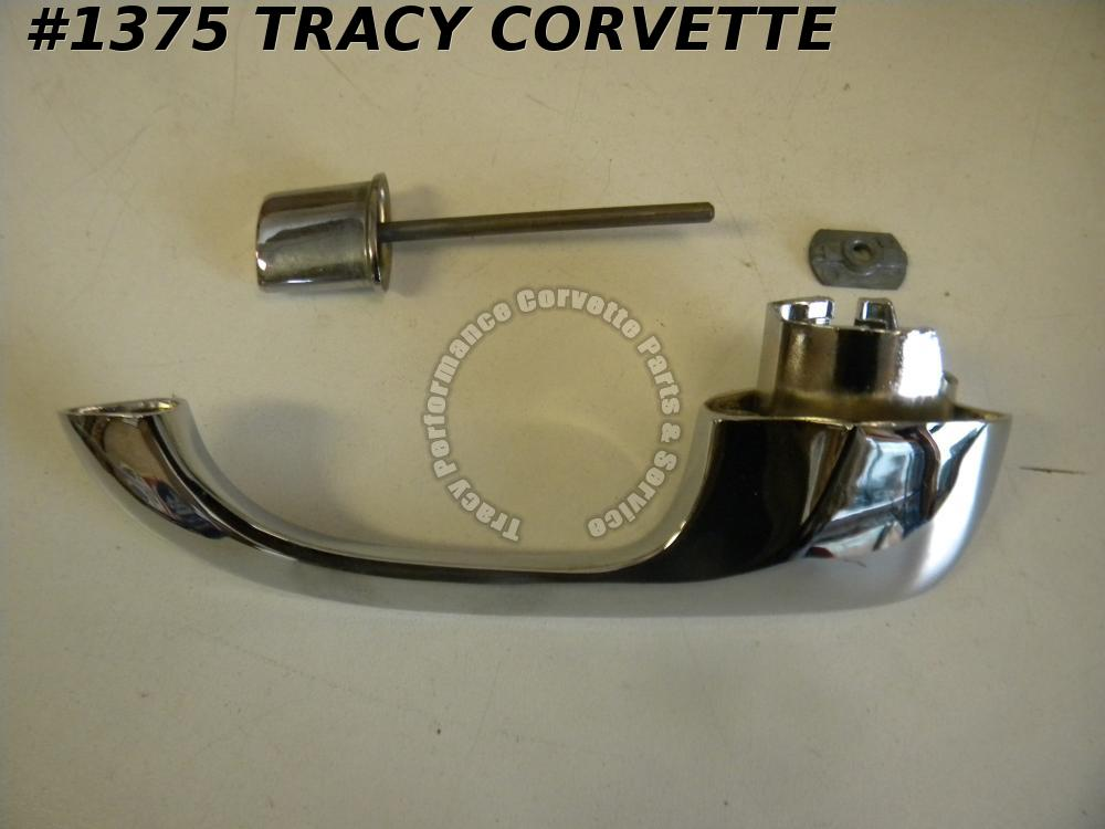1965-1967 Corvette NOS 5719143 LH Outside Door Handle with Push Button 65 66 67