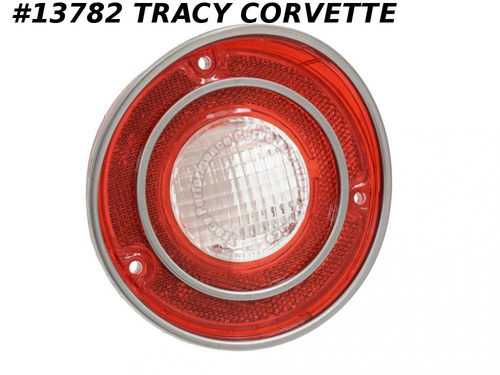 1971-1973 Corvette Tail Light Lens GM# 5964434  With Back-up (1971 Late)   1972