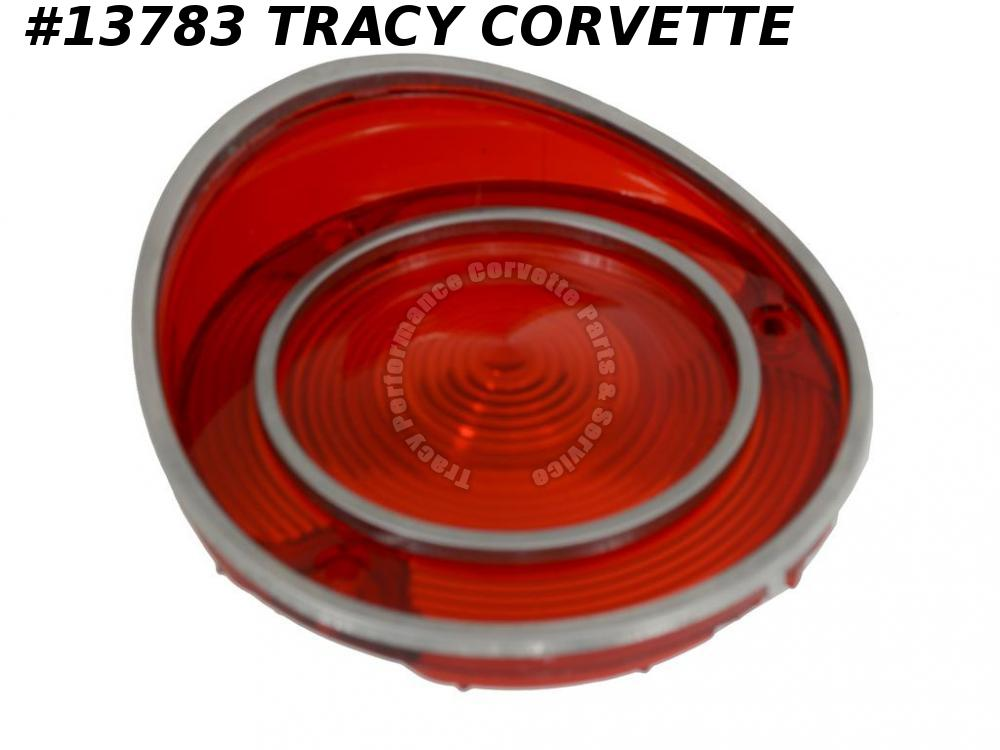 1970-1971 Corvette Tail Light Lens - Early 71 All Red GM Part #5960550 5960551