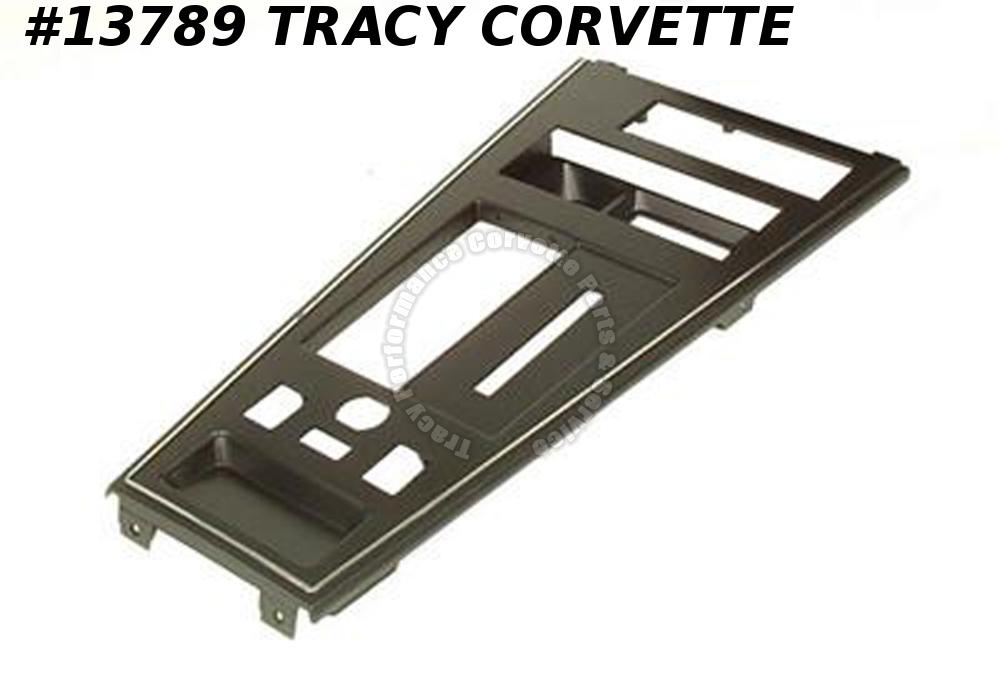 1981-1982 Corvette Shifter Console Plate - With Power Window And Power Mirror