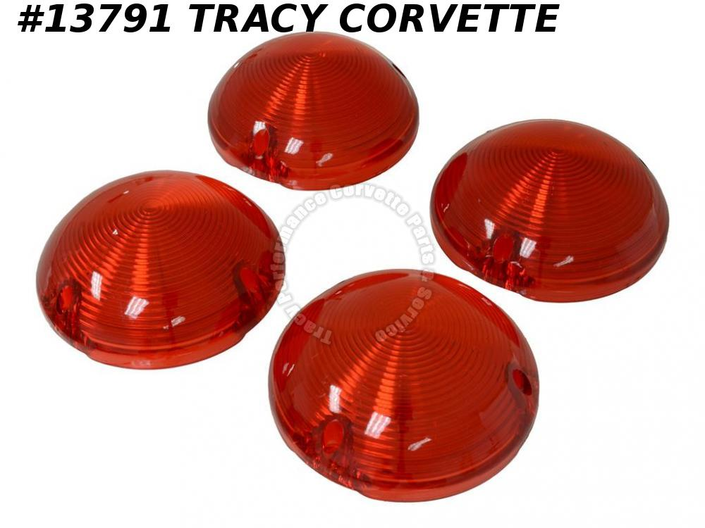 1968-1973 Corvette Bubble Tail Light Lens - Appearance Upgrade - Made in the USA