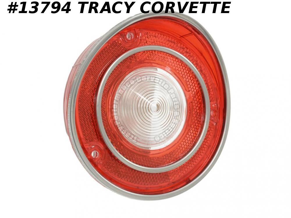 1970-1971 Corvette Tail Light Lens - With Back-up GM# 5961332 Made in the USA