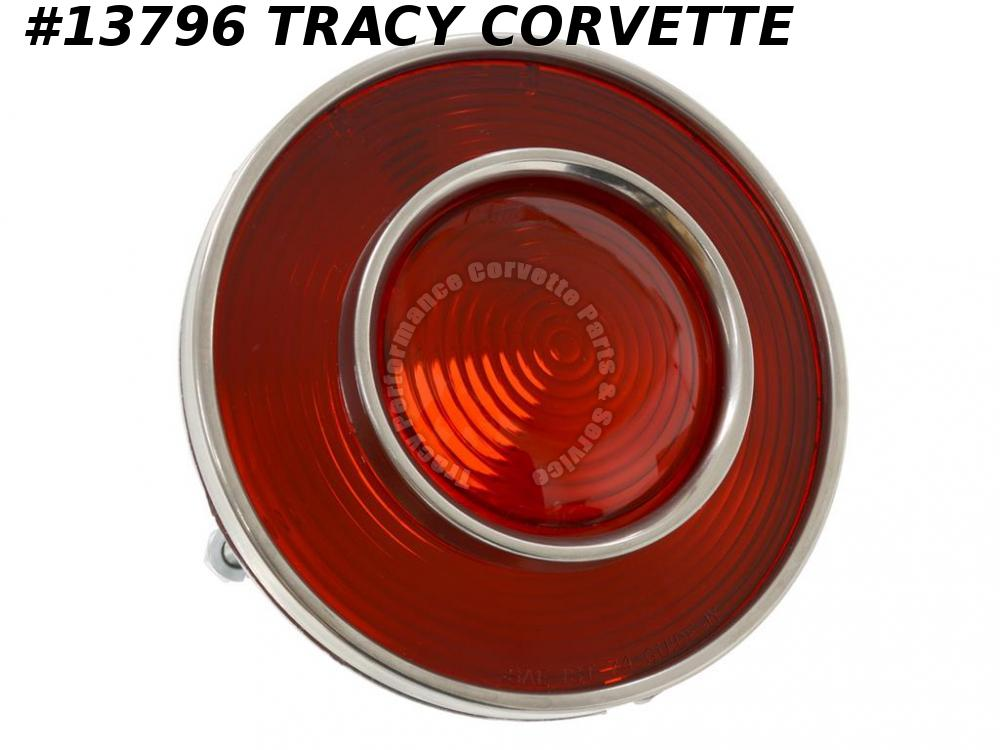 1974 Corvette Tail Light Assembly     All Red   GM# 897168   Original GM Tooling
