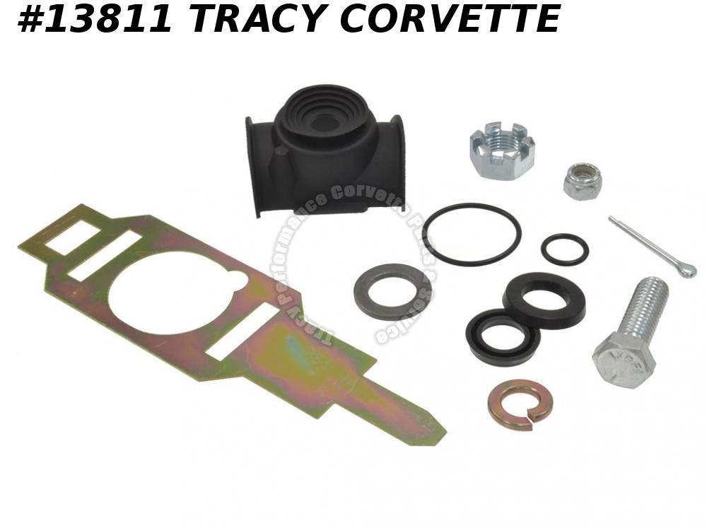 1963-1982 Corvette Power Steering Control Valve Rebuild Kit -Inc Boot & Retainer