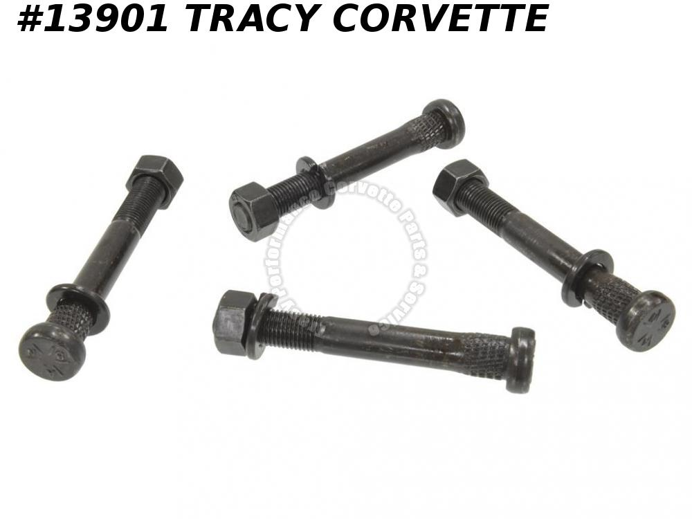 1965-1982 Corvette 3864037 Trailing Control Spindle Support Arm Stud Bolts Set 4