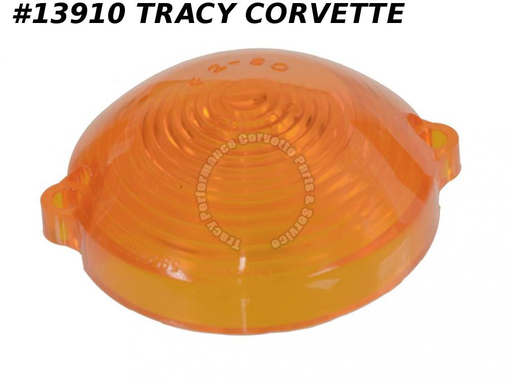 1963-1967 Corvette Parking Light Lens - Amber - Original GM Part #5954440