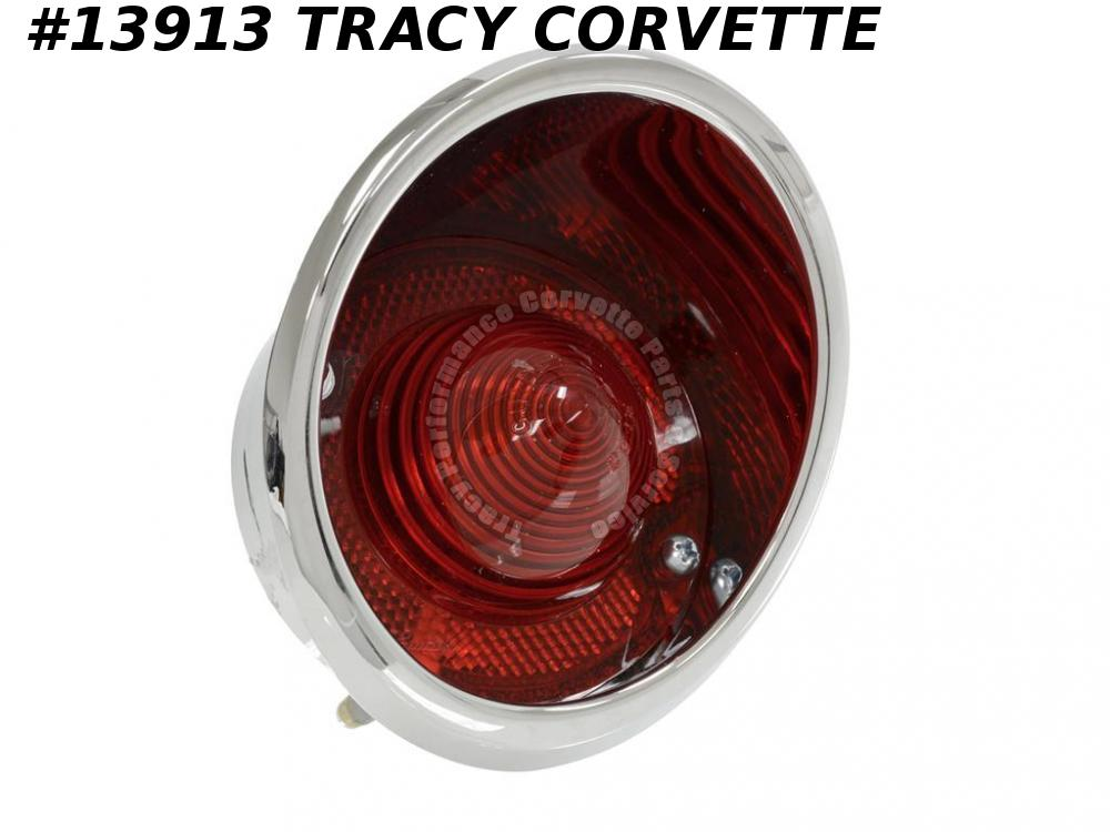1963-1967 Corvette Tail Light Assembly - Outer Right - GM Part #910554