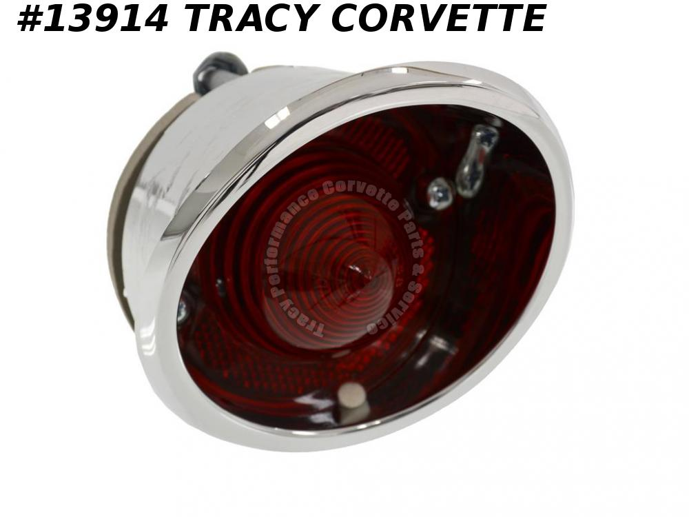 1963-1967 Corvette Tail Light Assembly - Outer Left Original GM Part #910553