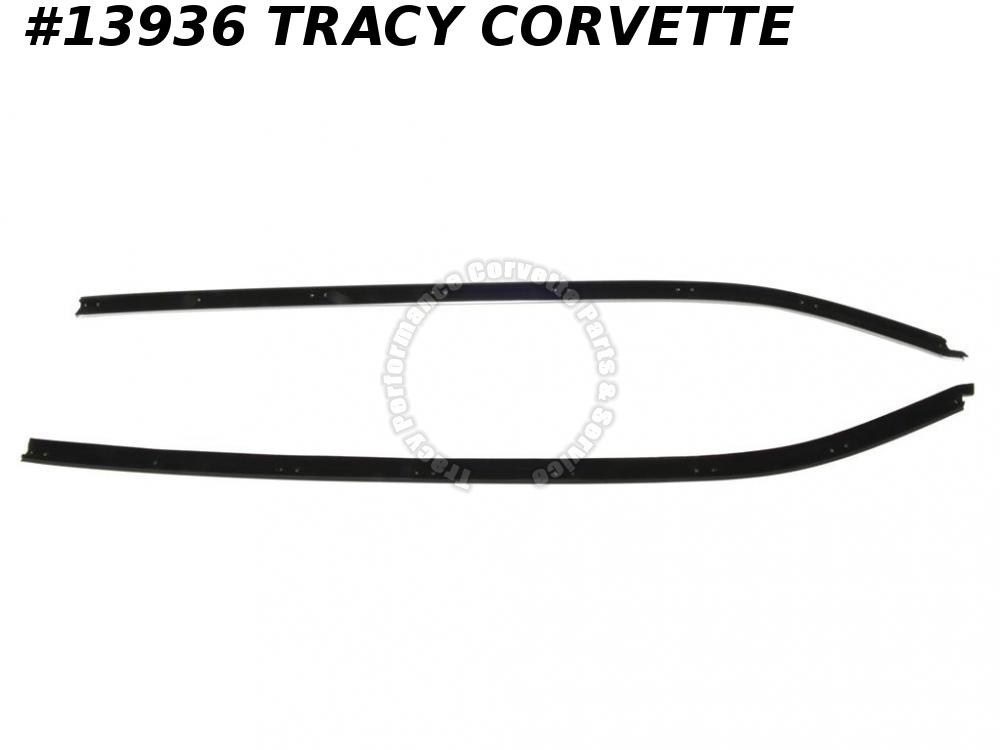 1969-1982 Corvette GM# 3966641 3966642 Door Outer Window Seal Belt Molding Coupe