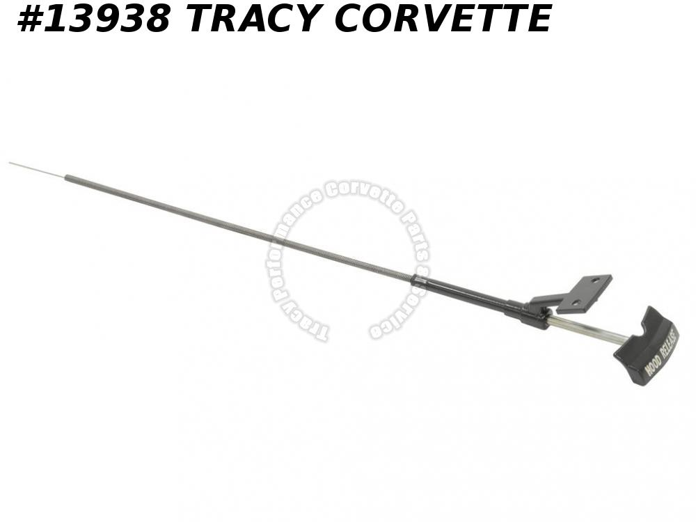 1967 Corvette Hood Release Cable - W/ Bracket